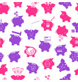 piggy seamless pattern background vector image vector image