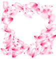 pink sakura petals confetti flying and falling vector image