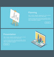 planning and presentation set vector image vector image