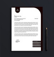 professional corporate business letterhead vector image