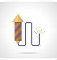 Purple firecracker flat color icon vector image