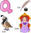 q alphabet vector image