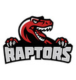 raptor head mascot vector image