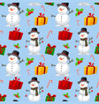 seamless christmas theme pattern vector image