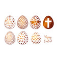 set of hand-drawn white and chocolate ornated vector image vector image
