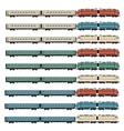 set passanger trains vector image