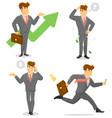 smiling businessman character set vector image