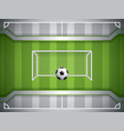 soccer goal and ball vector image vector image