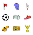 stadium icons set cartoon style vector image vector image