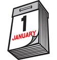 Tear Off Paper Calendar vector image