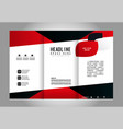 template design blue trifold brochure