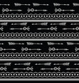 tribal arrows black and white seamless pattern vector image