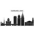 usa ohio cleveland architecture city vector image vector image