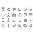Web gray icons set vector image vector image