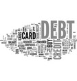 what you need to know about debt and credit cards vector image vector image