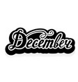 word december lettering vector image