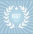 wreath award best son background vector image vector image