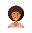 young woman black avatar character vector image vector image