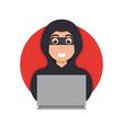 online money thief hacker in internet vector image