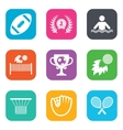 Sport games fitness icon Football golf vector image