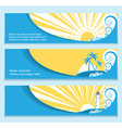 Seascape flat banners for text vector image