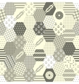Colorful Patchwork Seamless Patterns vector image