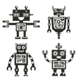 Robot icons Robots black signs vector image