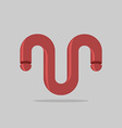 Abstract logo Maroon 3D Bent trumpet Business