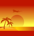 abstract summer island with palm trees and vector image vector image