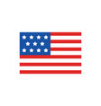 american flag with 11 stars veterans day vector image vector image