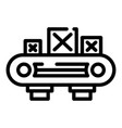 assembly wood box line icon outline style