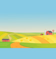 autumn sunny eco harvesting farm landscape with vector image vector image