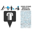 Bank Terminal Map Pointer Icon with 1000 Medical vector image