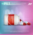 banner advertisement packaging painkiller pils vector image
