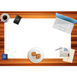 banner with top view of table vector image vector image