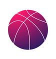 basketball pink symbol vector image vector image