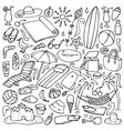 Beach doodle set vector image
