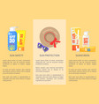 beach objects for relaxation colorful set vector image
