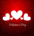 beautiful heart in red background vector image vector image