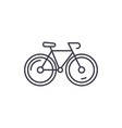 bicycle line icon concept bicycle linear vector image vector image