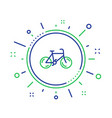 bicycle transport line icon bike public vector image vector image