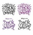 big set welcome back to school labels vector image vector image