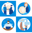 business and finance - set of flat design style vector image