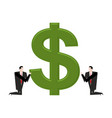 businessman praying to dollar prayer cash pray vector image vector image