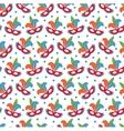 carnival mask seamless pattern masquerade endless vector image vector image