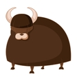 Cartoon brown Yak vector image vector image