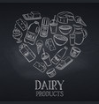 chalkboard dairy product vector image vector image