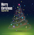 Christmas tree composed of particles can be used vector image vector image