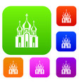 church building set collection vector image vector image