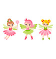 collection with fairies vector image vector image